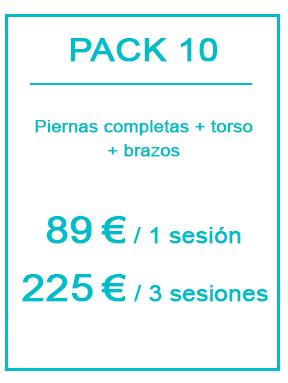 Pack depilación láser masculina 10