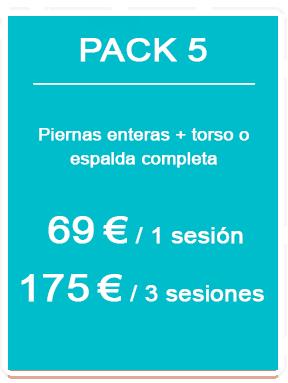 Pack depilación láser masculina 5