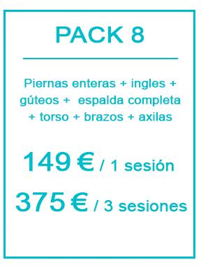 Pack depilación láser masculina 8
