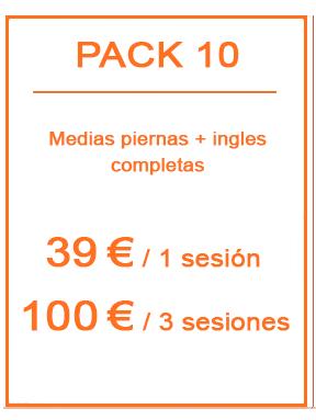 Pack depilación láser femenina 10