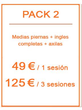 Pack depilación láser femenina 2