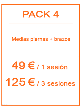 Pack depilación láser femenina 4