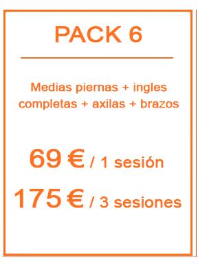 Pack depilación láser femenina 6
