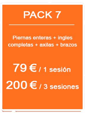 Pack depilación láser femenina 7