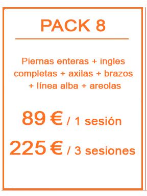 Pack depilación láser femenina 8