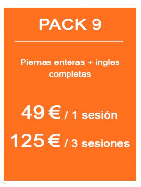 Pack depilación láser femenina 9